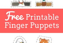FREE PRINTABLE FINGERS PUPPETS