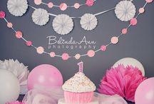 Grey & Pink Cake Smash theme inspiration