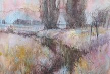 Art of Pastels / The beauty of painting with pastels chalks and oils.