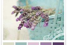 Purple blue colour palette