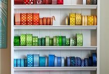 Ribbon  and lace storage