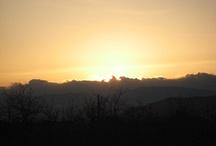sunset(kyosyu,yamanashi,jp) / 山梨県甲州市から見た夕日です。自分で撮影しました。