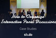 Panel discussions on stage