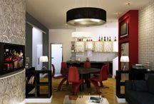 Квартира на Щукинской / Сложная, интересная, полутороуровниевая квартира с панорамным остеклением и выходом на крышу. #boyarova, #квартира