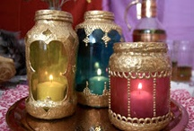 Henna and Mehndi Inspired Craft Projects / Henna candles, henna on wood, henna on bone, and more!