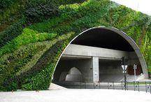 Earth, grass and concrete