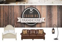 Farmhouse / Fill your space with the warm and welcoming vibes of simpler days gone by with the Charming Farmhouse Collection. These quaint and cozy pieces feature rustic finishes and delicate details to create a comfortable home with a classy (and classic) touch.