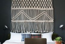 Art - Macrame - All knotted up! / Macrame wall hangings; artworks and knots.