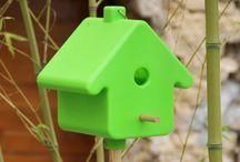 Les oiseaux au jardin / Pendant l'hiver prenez soins des oiseaux à l'aide de nichoirs, mangeoires et boules de graisse.