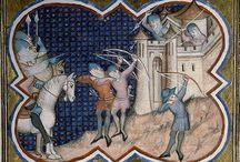Középkori könyv illusztrációk, képek