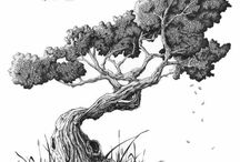 dessins arbres