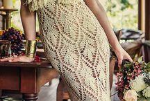 vestidos crochê