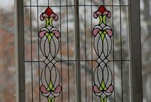 Stained Glass....Faux or Real? / Brewster Wallcovering stained glass appliques are all the rage for getting the look of stained glass at a fraction of the cost!