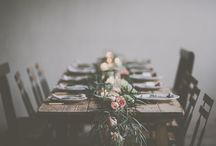 Table runners and table scapes / Floral table runners and tablescapes