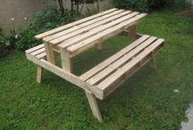 table extérieur bois