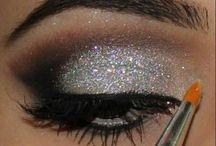 makijaż srebro