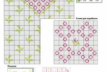cross stitch hearts and romantic