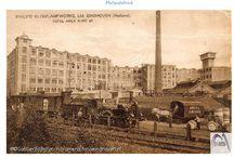 Fabrieken / Industrie rond 1900 in Nederland. Plein M / thema: Mens en Machines