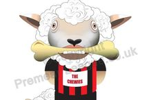 League Championsheep / A send up of sheep related football teams