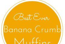 Banana Muffens with Crumb Topping