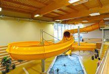 Pool centre KV Arena / Bazénové centrum KV Aren / Pool centre KV Arena In Pool centre next to KV Arena you can find pools, Whirlpool, sauna, Waterslide, Refreshment