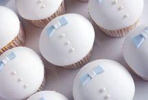 Baptismal cupcakes