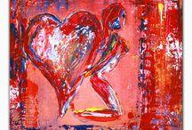 Herzbilder / Herzbilder, Herz Bilder zum Verschenken, Geschenke für Muttertag, Valentinstag, Geburtstag, Weihnachten. Herz Gemälde für Mann, Frau, Mutter, Partner