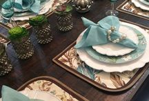 Aqua tablescape
