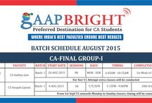 Batch Schedule August 2015
