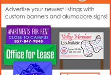 Real Estate Banners and Signs | Signmax.com / SignMax has a full line of vinyl banners, yard signs, a-frames and stands for Realtors. Customize a template in the online designer, upload a file or work with a talented graphic designer.