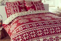 Camera da letto natalizia