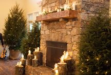 Holiday fireplaces / Fireplaces decorated with holiday decorations...
