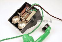 Antique telephone & doorbells