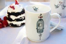 Colección Birds / We Love Home presenta una colección de tazas con una romántica historia de amor...