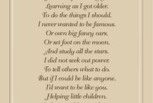 Nursing Poem ideas for Grandma