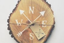 Rustic tree slices / Ways to use rustic tree slices at your wedding