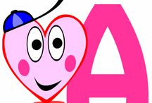 Un alphabet à imprimer avec dessins de coeurs