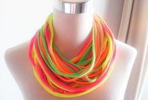 fabric necklace & scarfs