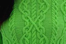 Aran Celtic knit and crochet