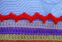 Crochet edgings / Crochet borders for knitting or crochet projects