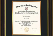 University of South Carolina - USC Upstate Diploma Frames and Graduation Gifts! / Official USC Diploma frames. Exquisitely crafted to exacting specifications for the USC diploma. Custom framed using hardwood mouldings and all archival materials, including UV glass to prevent fading from sunlight AND indoor incandescent lighting! Each frame exceeds Library of Congress standards for document preservation and includes a 100% lifetime guarantee, ensuring that a hard-earned achievement will be honored and protected for generations. Makes a thoughtful and unique graduation gift!