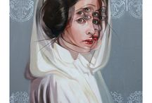 To Us, She's Royalty / A board to commemorate our beloved Princess Leia and the brilliant woman who played her, Carrie Fisher.
