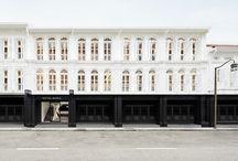 Szingapur fekete-fehér hotel