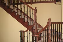 Transitional Staircase Remodeling Gallery / The Transitional Staircase Remodeling Gallery features elegant staircases that combine the look and feel of both Contemporary and Traditional style designs. In this gallery, you will find simplistic and geometric wrought iron components matched with ornamental balusters. This collection combines the Aalto, Veratile, Designer Tubular, and Round series to create truly transitional style patterns.