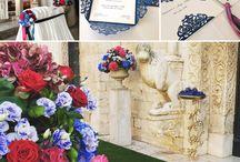 blu colorfull elegant wedding