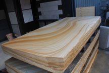 Australian sandstone slab / Australian stone supplier . www.aussietecture.com.au
