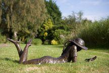 Garden Sculpture / Solid Bronze Sculpture for the Garden by Nelson & Forbes