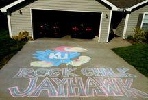Rock Chalk Jayhawkin / by Amber Moody