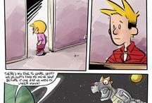 Calvin bacon and Hobbes