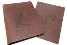 Saddle Hide Menu Covers / Saddle Hide Menu Covers - These impressive real leather menu covers are hand-crafted from a hard wearing cut of real leather, these unique menu covers are guaranteed to be extremely robust, authentic and long-lasting.
